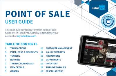 Point of Sale User Guide