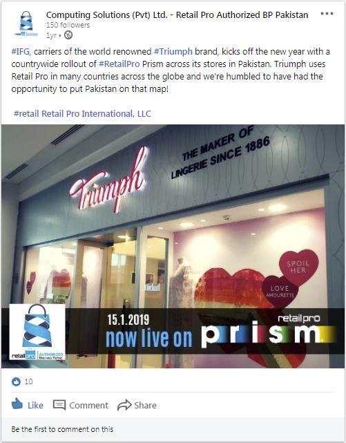 Computing Solutions shares Triumph's experience with Retail Pro Prism
