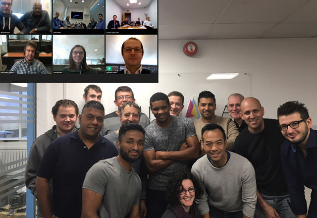 London's 2017 SYSxpo Retail Pro Prism training class attendees