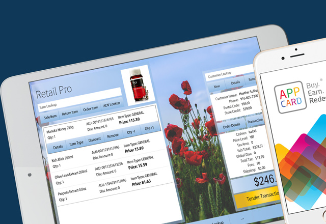 Increase retention and repeat sales with AppCard for Retail Pro