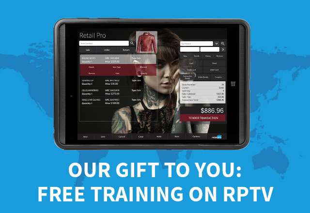 Our gift to you: Free training on Retail Pro TV
