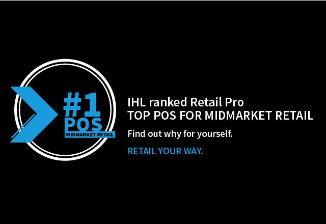 Retail Pro ranked #1 POS for midmarket retail